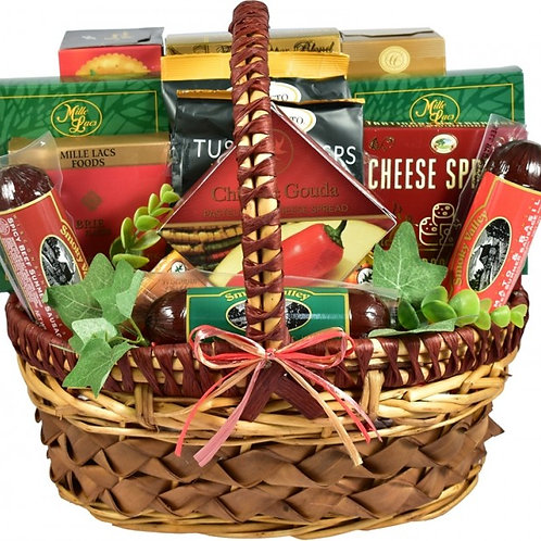 A Cut above Cheese and Sausage Large Gift Basket