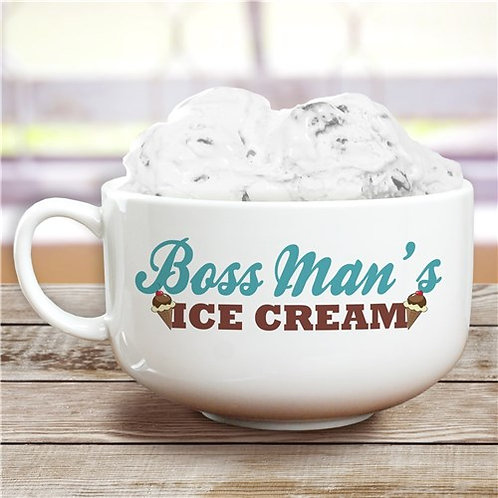 Personalized Ice Cream Bowl with a Name or Title