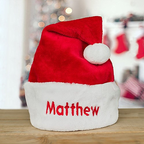 Personalized Red Santa Hat