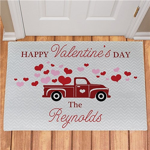 Happy Valentines Day Truck Doormat