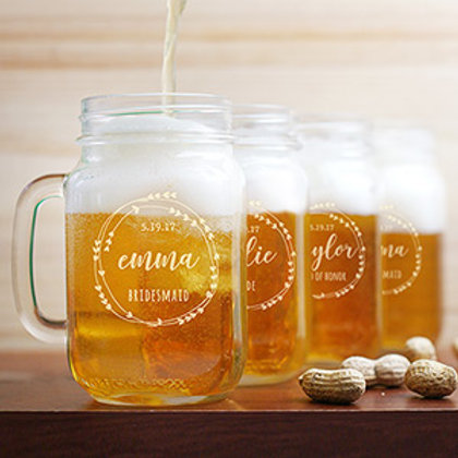 Bridal Party Mason Jar