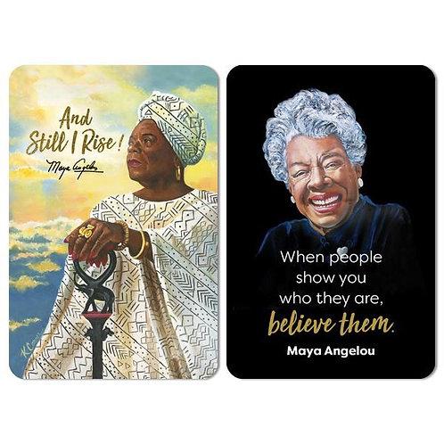 And Still I Rise / Believe Maya Angelou Magnet Set