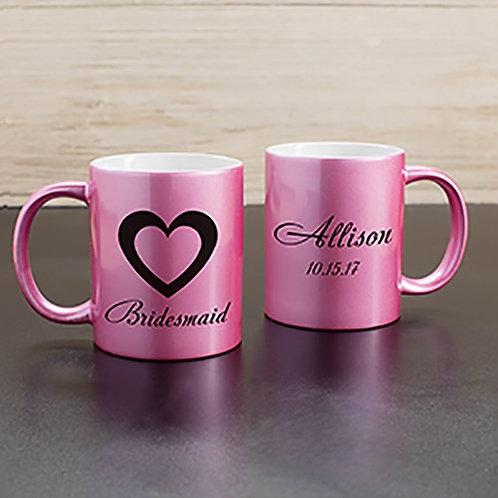 Bridal Party Personalized Metallic Mug