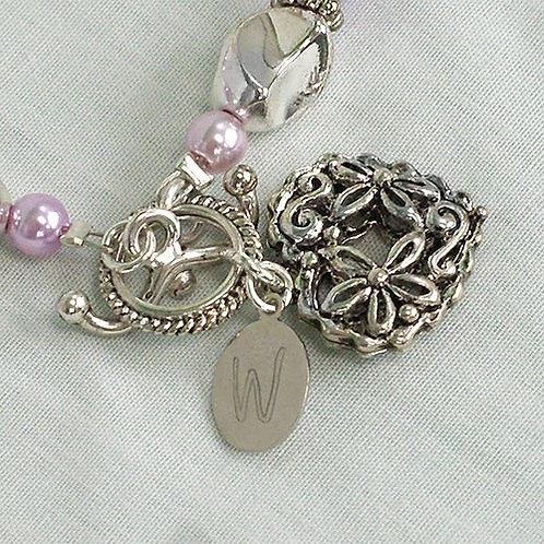 Sister Friend Forever Personalized Purple Gem Bracelet