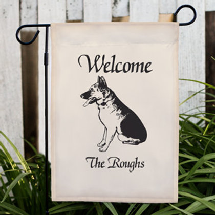 Dog Breed Welcome Personalized Garden Flag
