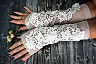 Bridal Accessories White Lace Gloves Gra