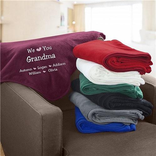 We Love You Personalized Fleece Blanket
