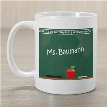 Chalkboard Teacher White Coffee Mug