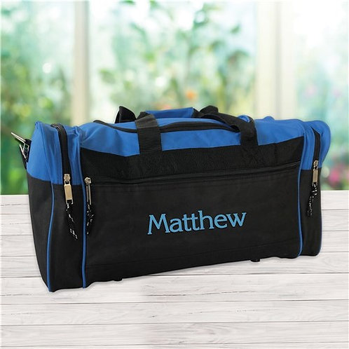 Black Duffel Bag Embroidered with Any Name