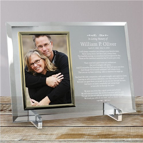 Personalized in Loving Memory Glass Frame