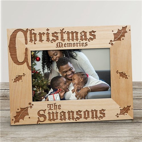 Personalized Christmas 8x10 Wood Frame