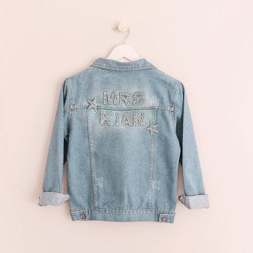Bridal Sparkle Personalized Denim Jacket