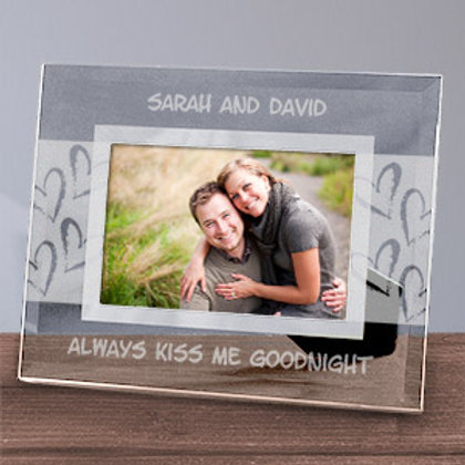 Always Kiss Me Goodnight 4x6 Glass Frame