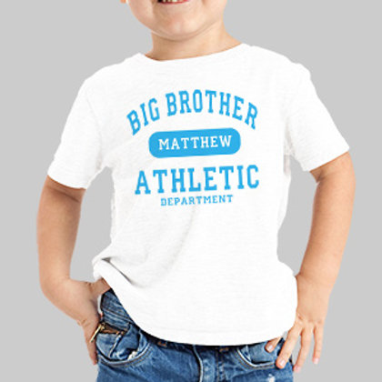 Big Brother Athletic Dept. Personalized Kids T-shirt