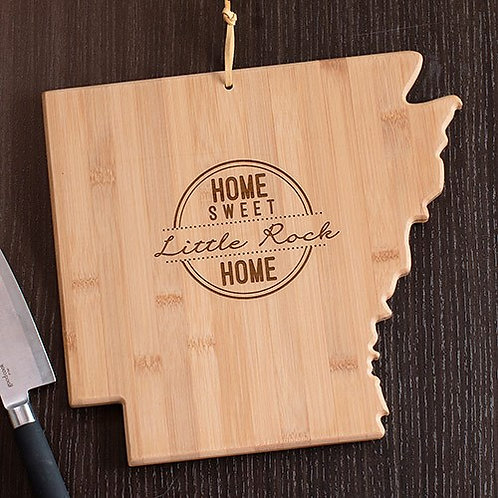 Personalized Home Sweet Home State Cutting Board