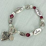Love Mother Forever Red Gem Bracelet #PG