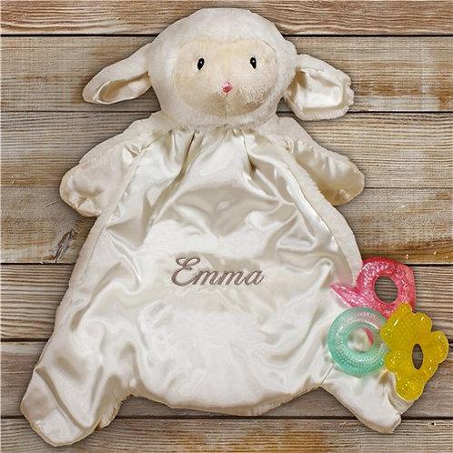 Baby HuggyBuddy Personalized Lamb Blanket