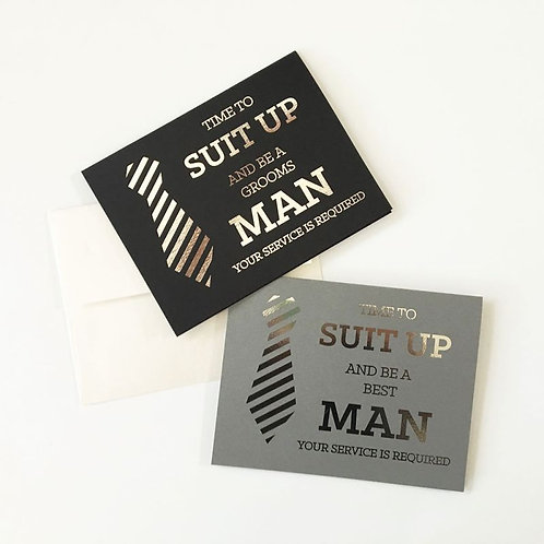 Will You Be My Groomsmen Cards (Set of 4)