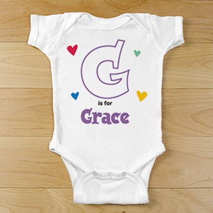 Alphabet Name Infant Bodysuit