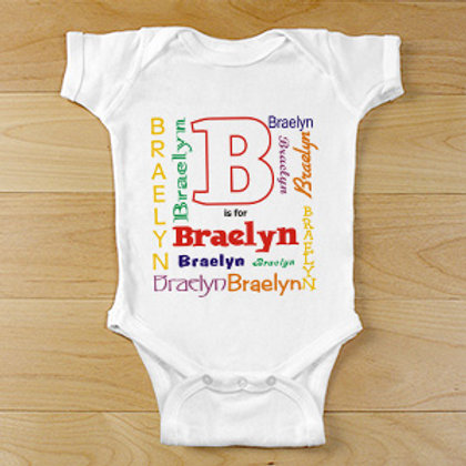 A is For Personalized Infant Bodysuit or T-shirt