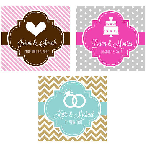 Personalized Square Labels or Tags