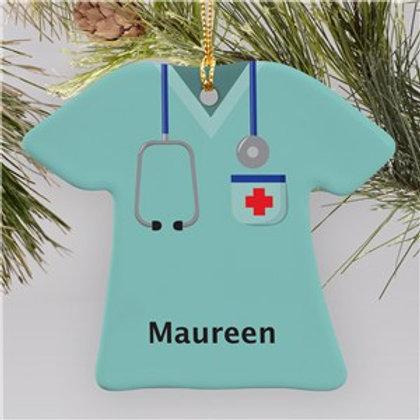 Ceramic Nurse T-Shirt Ornament