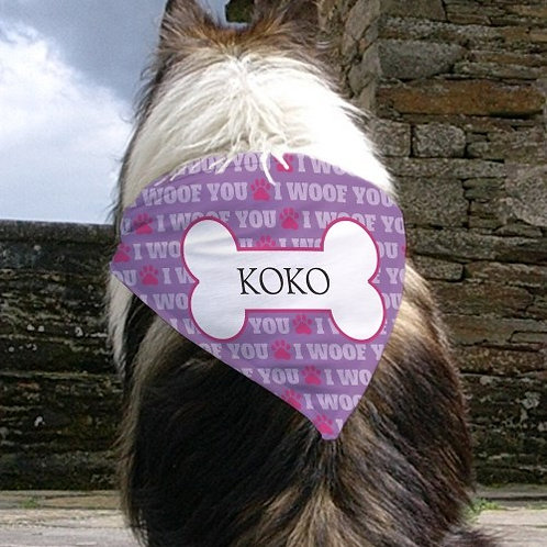 Personalized Dog Bandana with Pets Name