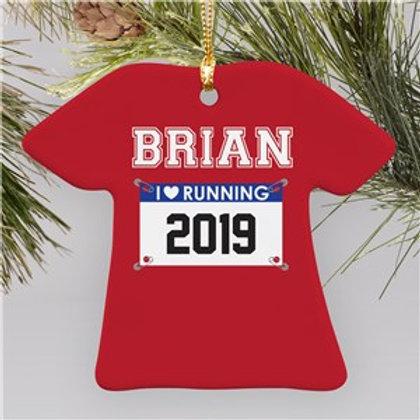 Born to RUN T-Shirt Ornament