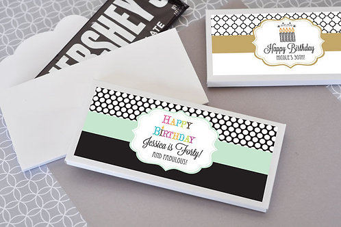 Personalized Birthday Candy Wrapper Covers (Minimum Qty 24)
