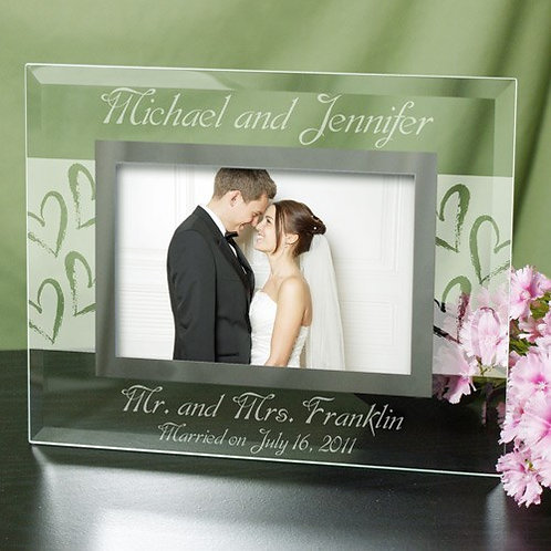 Couples Wedding Glass 5x7 Personalized Picture Frame