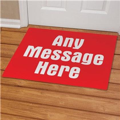 Any message  Doormat