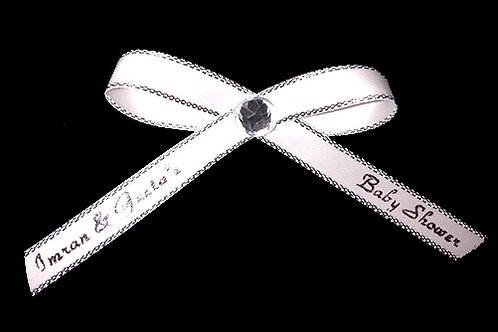 Personalized Silver Trim Ribbons for Favors