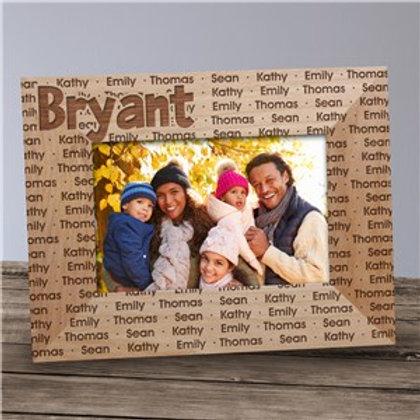 Custom Family Name Wood Frame