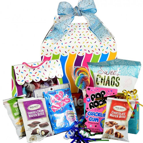 Birthday Party Gift Basket with Goodies in a Box