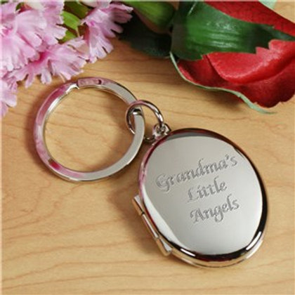 Any Message Silver Locket and Keychain