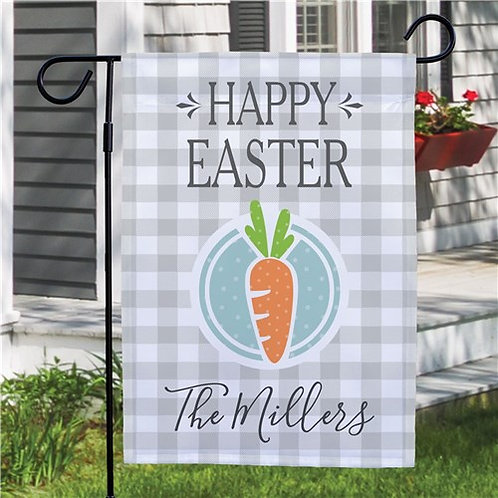 Happy Easter Carrot Personalized Garden Flag