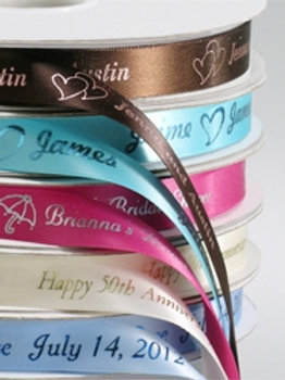 """Personalized 5/8"""" Satin Ribbons for Party Favors"""