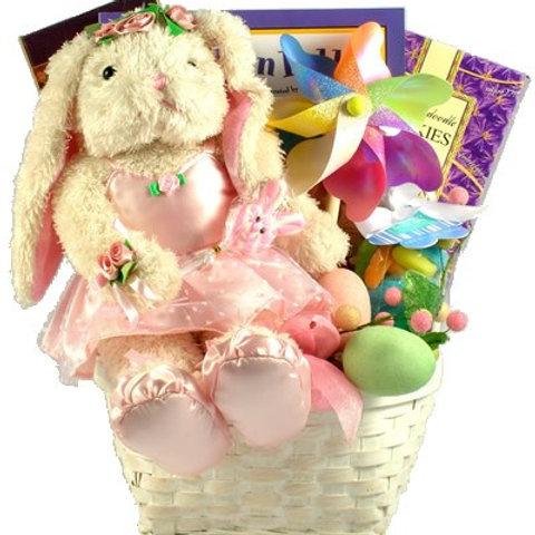 Girls Ballerina Bunny Easter Gift Basket
