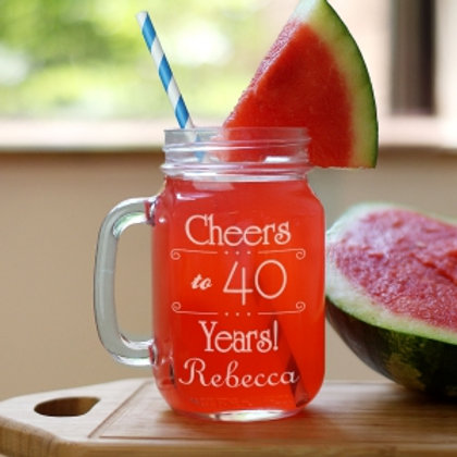 Cheeers! Birthday Mason Jar