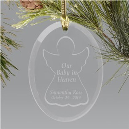 Baby in Heaven Engraved Custom Ornament
