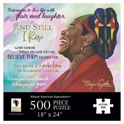 Maya Angelo Quotes 500PC Jigsaw Puzzle