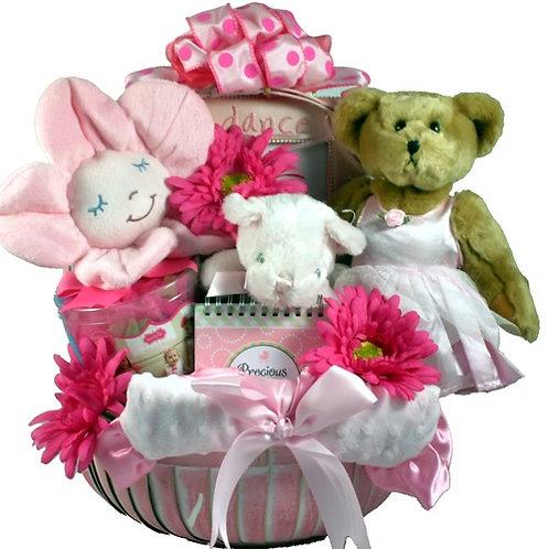 Tutu Cute Pink Ballerina Baby Gift Basket
