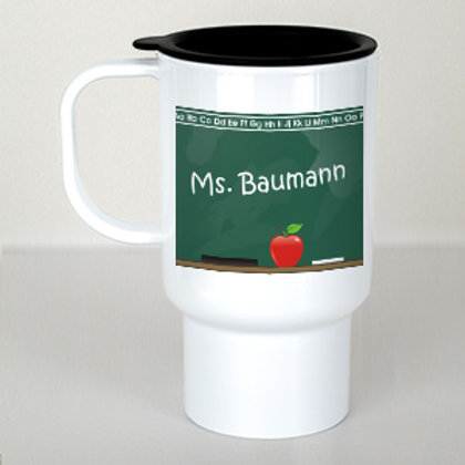 Chalkboard Teacher Travel Mug