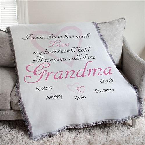 Grandma Blanket Personalized with Grandchildren Names