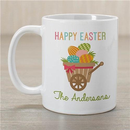 Happy Easter Personalized Wheelbarrow Mug