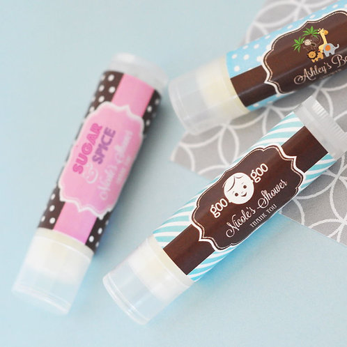 Baby Shower Personalized Lip Balm Tubes