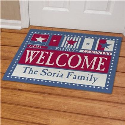 American Pride Welcome Doormat