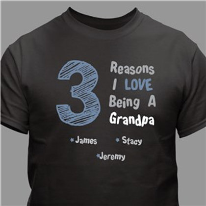 All the Reasons Personalized Dad T-Shirt