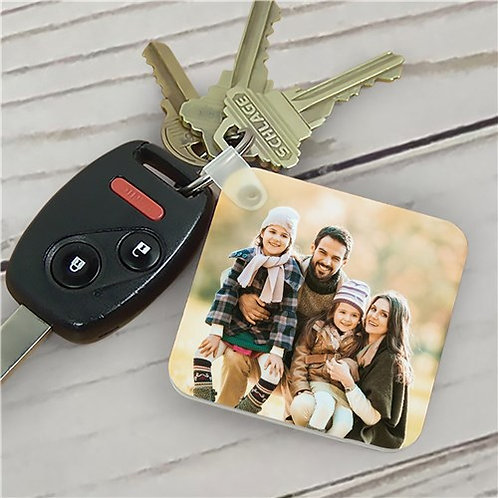 "Personalized Custom 2"" Square Photo Keychain"