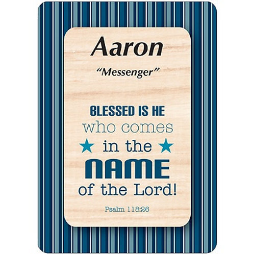 A - K Male DayDream Name Cards with Bible Verse